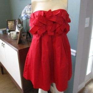 Anthropologie Fumblin Foe Strapless Ruffle Dress M